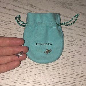 Tiffany Sterling Silver Bow Earrings